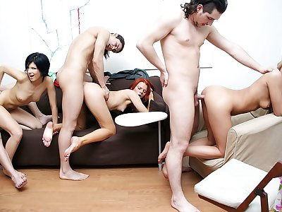 Real college orgy with shameless sexy chicks